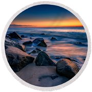 Sunrise, Sandy Hook Round Beach Towel