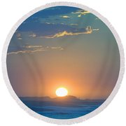Round Beach Towel featuring the photograph Sunrise Sky by  Newwwman