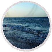 Sunrise Solitude Round Beach Towel by Debbie Oppermann