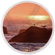 Sunrise, South Shore Round Beach Towel