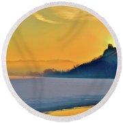 Sunrise Sparkle Round Beach Towel