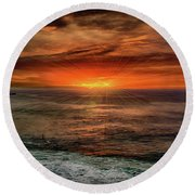 Sunrise Special Round Beach Towel by Joseph Hollingsworth