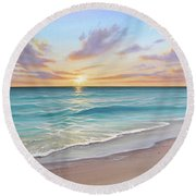 Sunrise Splendor Round Beach Towel
