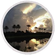 Sunrise Storm Round Beach Towel