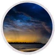 Sunrise Storm Round Beach Towel