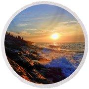 Sunrise Surf Round Beach Towel