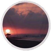 Sunrise Surfer Round Beach Towel