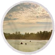 Sunrise Surfers Round Beach Towel