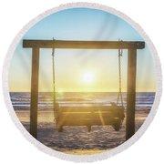 Sunrise Swings Round Beach Towel
