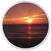 Sunrise Virginia Beach Round Beach Towel by Melissa Messick