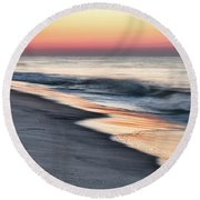 Sunrise Waves Round Beach Towel