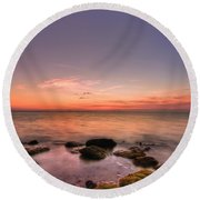 Sunrise Wisp Round Beach Towel