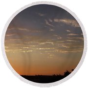 Sunrise With Windmill Round Beach Towel