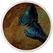 Suns Cast Butterfly Art Round Beach Towel