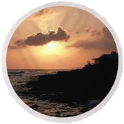 Sunset @ Spotts Round Beach Towel