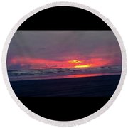 Sunset #1 Round Beach Towel