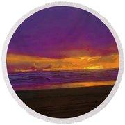 Sunset #3 Round Beach Towel