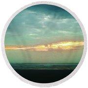 Sunset #4 Round Beach Towel