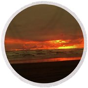 Sunset #5 Round Beach Towel