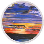 Sunset #5 Round Beach Towel