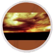 Sunset #6 Round Beach Towel