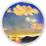 Sunset #6 Round Beach Towel