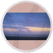 Sunset #7 Round Beach Towel
