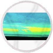 Sunset #8 Round Beach Towel
