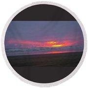 Sunset #9 Round Beach Towel