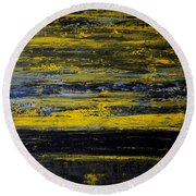 Sunset Abstract Round Beach Towel