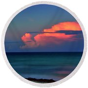 Sunset Afterglow Round Beach Towel
