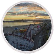 Sunset Amusement Round Beach Towel