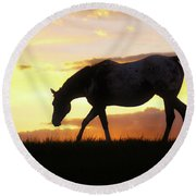 Sunset Appy Round Beach Towel
