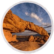 Sunset Arch Round Beach Towel by Dustin LeFevre