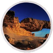 Sunset Arch Pano Round Beach Towel