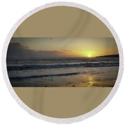 Sunset At Barry Round Beach Towel