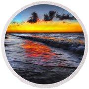 Sunset At Boracay Round Beach Towel