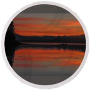 Sunset At Brothers Islands Round Beach Towel
