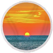Sunset At Captiva Round Beach Towel