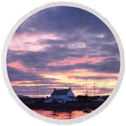 Sunset At Clachnaharry Round Beach Towel