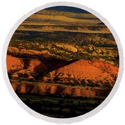 Sunset At Donkey Flats Round Beach Towel