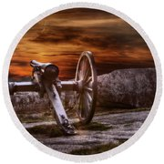 Sunset At Gettysburg Round Beach Towel by Randy Steele