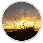 Sunset At Goose Island, Tx Round Beach Towel
