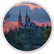 Sunset At Holy Hill Round Beach Towel