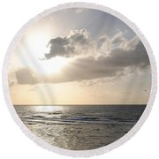 Sunset At Jaffa Beach 17 Round Beach Towel