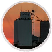 Sunset At Laird -01 Round Beach Towel