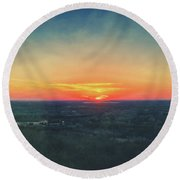 Round Beach Towel featuring the photograph Sunset At Lapham Peak #3 - Wisconsin by Jennifer Rondinelli Reilly - Fine Art Photography