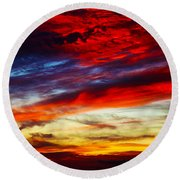 Sunset At Louie's Round Beach Towel