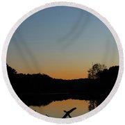 Sunset At Paulinskill Lake Round Beach Towel by Nicki McManus