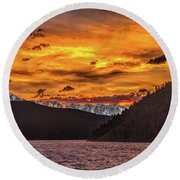 Sunset At Summit Cove And Summerwood June 17 Round Beach Towel